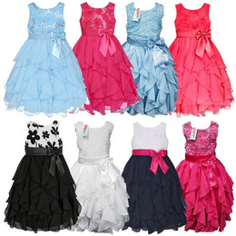 Wholesale Girl Party Dress Free Dhl - Samgami Baby Baby Girls 3D Flower Sequins Tutu Dress Kids Sleeveless Princess Party Dresses Kids Formal Dress free dhl shipping