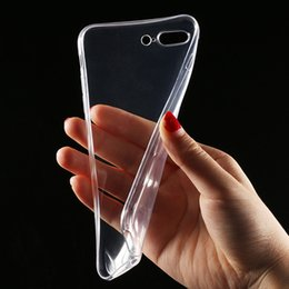 Wholesale Transparent Mobile Phones - High Quality Transparent Clear Case for iPhone X 8 Plus 7 Soft Silicone Gel TPU Case Silicone Cover Ultra Thin Mobile Phone Case