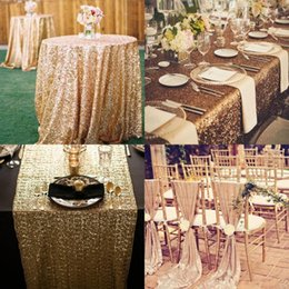 Wholesale Back Chairs - Great Gatsby Custom Made Sequined Wedding Accessories For Tables and Chairs Several Colors High Quality Wedding Decorations