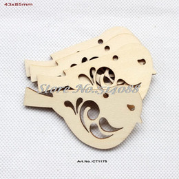 "Wholesale Wood Ornament Craft - Wholesale- (30pcs lot) 43mmx85mm Rustic Natural Wood Bird Necklace Charm Bulk Crafts Jewelry Art Ornaments 3.3""-CT1175"