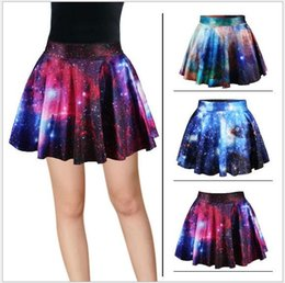 Wholesale Galaxy Printed Skirt - Hot sell ! 2016 fashion Ms 3 D space galaxy digital printing new skirt free shipping AA08