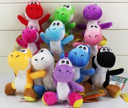 Wholesale Doll Keychain Sale - Hot sale Super Mario Bros Yoshi Plush Anime Keychain 10 colors Plush doll kids gift 10cm Free shipping