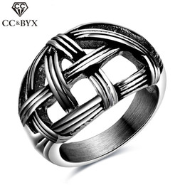 Wholesale Bridegroom Accessories - Stainless Steel Midi Rings For Men Wholesale Punk Wind Fashion Fine Jewelry Weave Bridegroom Bands Tail Wedding Ring Chic Accessories CC556