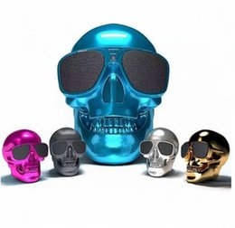 Wholesale China Mp3 Player - wireless bluetooth speaker 4.1 smartphone sound skull Universal HiFi Computer Speakers for Mobile Phone MP3 Player ipod ipad