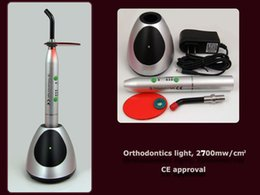 Wholesale Dental Led Curing Lights - Dental LED Orthodontics Curing 2700mw cm2 High Power Rechargeable Battery Dental Wireless Cordless LED Cure Curing Light Lamp