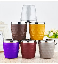 Wholesale Coffee Cups Art - Stainless Steel Water Mugs Cup Coffee Beer Mug Wine Glass Baby Water Cup Double Cup Anti-hot