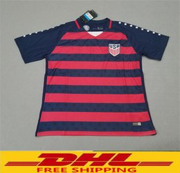 Wholesale Jersey Wholesale Thailand - DHL free shipping Thailand PULISIC USA soccer jerseys Gold cup 2017 2018 United states national jersey 2017 2018 fooball shirt welcome to o
