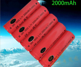 Wholesale Used E Cigarette - AW 18650 2000mah 3.7V high drain battery 20A AW IMR 18650 for mechanical mods E cigarette rechargeable lithium battery widely used