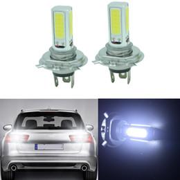 супер led h4 Скидка 4x Белый Супер Яркий H4 COB 6000K LED Автомобильные противотуманные фары Лампы Лампы 12В постоянного тока