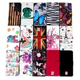 Wholesale Wholesale Leather Card Wallet Usa - Flower Wallet Leather Case For Samsung Galaxy S8 PLUS C7 J3 Pro One Plus OnePlus 3 Stand Zebra Pouch Litchi Card Owl USA Flag Cartoon Cover