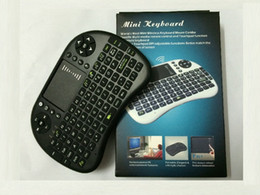 Wholesale Cs918 Free Dhl - Hot Sell Mini Rii i8 2.4G Wireless Handheld Keyboard with Touchpad Gaming Air Mouse For MX CS918 MXIII M8 TV BOX Game Play Tablet DHL Free