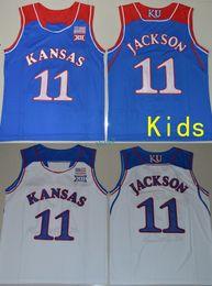 Wholesale Kansas Royals Jersey - 2017 Kids Youth Kansas Jayhawks #11 Josh Jackson Royal blue White College Jerseys Stitched Size S-XL