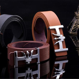 Wholesale Free Business Promotions - Hot Sales Fashion Popular Men's Belts Luxury Upscale Business Style Smooth Buckle Leather Belts PD19 Factory Promotion Free Shipping