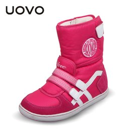 Wholesale Hot 14 Years Girls - HOT UOVO brand winter children shoes girl and boy boots water-proof oxford cloth kids snow boots plush shoes for 6-14 years old