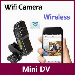 Wholesale Ip Security Dvr - WiFi IP Spy Hidden Camera Mini DV Wireless IP Camera Portable Security Survellance Camcorder Video Recorder Mini DVR NEW MD81 MD81S