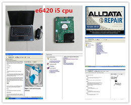 Wholesale Auto Data - v10.53 alldata and mitchell software 2018 installed in laptop E6420 (i5 cpu) auto repair for car and truck data computer hdd 1tb
