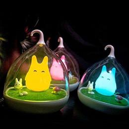 Canada 2016 Le Spiderwick USB Rechargeable LED Nuit Lumière Lampe Bébé Chambre Vibration Capteur Dimmer Lampe de chevet lampe de table Offre