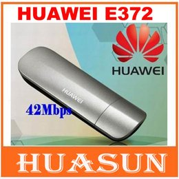 Wholesale modem 3g - DHL EMS Free shipping original unlocked Huawei E372 42Mbps modem 3G 4G USB wireless modem