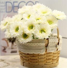 "Wholesale Artificial Mini Silk Flowers - Silk Single Stem Gerbera 20cm 7.87"" Length Artificial Flowers Mini Daisy Chrysanthemum for DIY Bridal Bouquet Wedding Centerpieces"