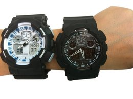 Argentina 2018 Nueva llegada top relogio GA100 relojes deportivos para hombres, esfera negra LED cronógrafo reloj militar reloj digital, 1pcs sin caja Suministro