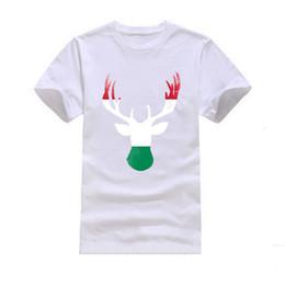 Wholesale Hungary Free - New 2017 Deer Hungary flag Fashion Men's T-shirts Cotton Clothing Wholesale
