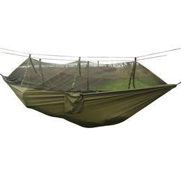 Wholesale Nylon Hammock Net - Wholesale-Outdoor Dense Netted Hammock Parachute For Hiker Camping Tent 260*130CM Trees Sleeping High Strengt Naturehike