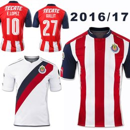 Wholesale New Soccer Jersey Chivas de Guadalajara Home Red Away White Mexico Camiseta de Futbol Guadalajara Football Shirt