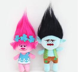 Wholesale new cartoon doll - 23cm Trolls Plush Toy Poppy Branch Dream Works Stuffed Cartoon Dolls The Good Luck Trolls Kids Gifts