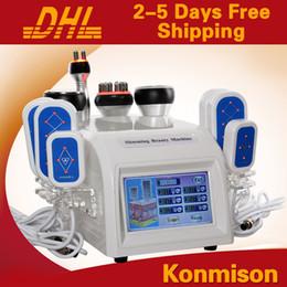 Wholesale Cavitation Lipolaser - New 40k Strong Fat Dissolving Vacuum Cavitation RF Ultrasound Weight Loss Machine 5 In 1 Lipolaser Slimming Equipment