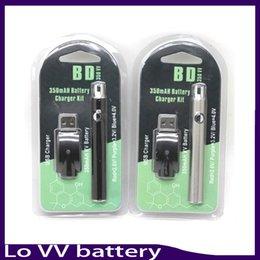 Wholesale Pack Pens - LO Preheat battery Preheating pack adjustable VV vape pen 350mah battery Variable Voltage 510 various voltage starter kit co2 oil vaporizer