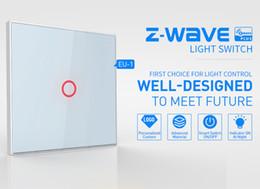 Automazione di illuminazione online-Interruttore touch screen Z-Wave 1CH EU Wall Touch Home Automation Interruttore ZWave Wireless Smart Remote Control Light