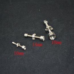 металлический гвоздь для воды Скидка Титановый гвоздь 10 мм 14 мм 18 мм курить металлическая труба нажмите N vape для благовония Глобус керамический banger стекло воды бонги инструмент аксессуары