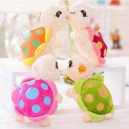 Wholesale Turtle Cute - 1pc 23cm Cute Tortoise Plush Toy Staffed Cartoon Colorful Turtle Plush Doll Activity Doll Wedding Doll
