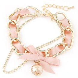 Wholesale Thin Bracelets Crystal - Women Accessories Bracelets Link Chain Fashion Hand Korean Jewelry Crystal Bracelet Thin Chain Personality Ladies Korean Ribbon Bow Bracelet