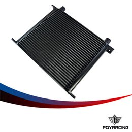 Wholesale Rowing Race - PQY RACING-BLACK 30 ROW AN-10AN UNIVERSAL ENGINE TRANSMISSION OIL COOLER PQY7030-2BK