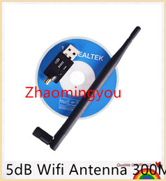Wholesale 5db Antenna - Wireless Wifi Adapter 5dB Wifi Antenna 300Mbps wi fi USB Wireless Network Card 802.11n b g PC Computer Wifi Receiver