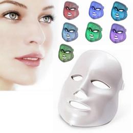 Wholesale Wholesale Medical Face Mask - Facial Care Led Mask Kleuren Licht Photon Elektrische LED Gezichtsmasker Huid PDT Huidverjonging Anti Acne Rimpel Verwijdering Therapie