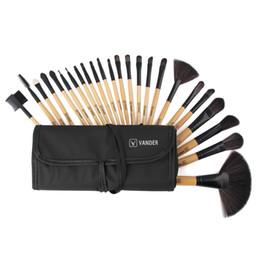Wholesale Pro Makeup Bags - Vanderlife Pro Makeup Brushing Brushes Set 24pcs lot Pinsel Cosmetic Foundation Powder Blush Eyeliner Blending Brushes w Bag