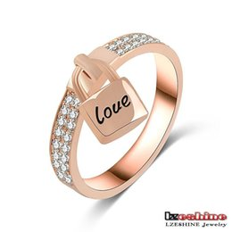 Wholesale Over Lock - 2016 Hot ring rose gold ring over New micro inlay zircon high-end ring - lock up the happiness