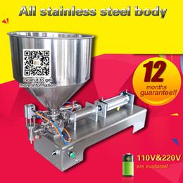 Wholesale liquid filling machines - Filling machine one piston paste bottle filling machine liquid filling machine for sauce cream