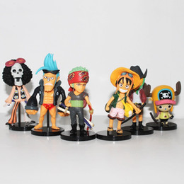 Wholesale Cheapest Action Figures - Cheapest Anime One Piece 24 Dolls Action Figure Toys 6pcs set Doll Cartoon Model Children Baby Gift