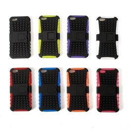 Wholesale Soft Rubber Spiders - Soft TPU material+Kickstand Backcover Robot Hybrid Spider Case Stand Tyre TPU Rubber Cover Armor Cases For iPhone 6 6Plus