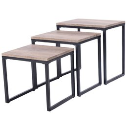 Wholesale Furniture End Tables - 3PC Stacking Nesting Coffee End Table Set Living Room Modern Home Furniture New