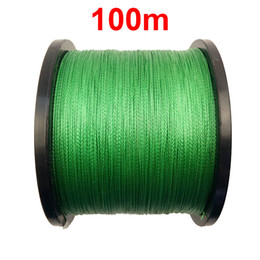 Wholesale Floating Braided Fishing Line - 1PC 100m 110 Yards 100% PE Braided Fishing Line Green 4 Strands Braid Multifilament Super Strong Fishing Lines 10LB-45LB