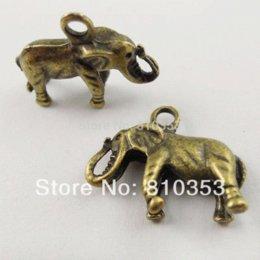 Wholesale Elephant Bronze Tone Charms - Vintage Bronze Tone Alloy Elephant Charm Pendant Jewelry Finding 60PCS 37370 Charms Cheap Charms Cheap Charms