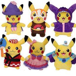 Wholesale Gift Horse Movie - 25cm 6 Style Pikachu Plush Toy Horse Team Plush Rock Poke Plush Animals Dolls Kids Best Birthday Gift Toy