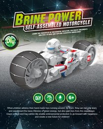 Wholesale Toy Remote Motorcycle - SUBOTECH Brine Power Self-assembled Motorcycle Building Blocks Electronics Motorcycle DIY Salt Water Power Battery Educational Toy