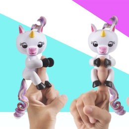 Wholesale New Electronic Candle - Fingerlings Unicorn With Tail Cute Wedding Favors Wedding Supplies Electronic Smart Touch Finger Toys Wedding Party Gifts