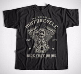 Wholesale Bikers T Shirts - T-Shirt Custom Engine S-XXXL Motorrad Rocker Mechaniker Chopper Harley Biker