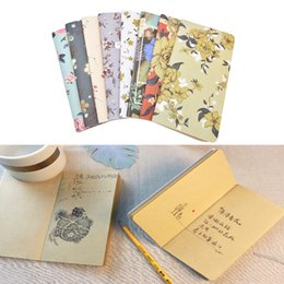 Wholesale Kawaii Diary Book - Wholesale- New Arrival Cute Mini Retro Cover Floral Flower Schedule Book Diary Weekly Planner Notebook School Office Kawaii Stationery